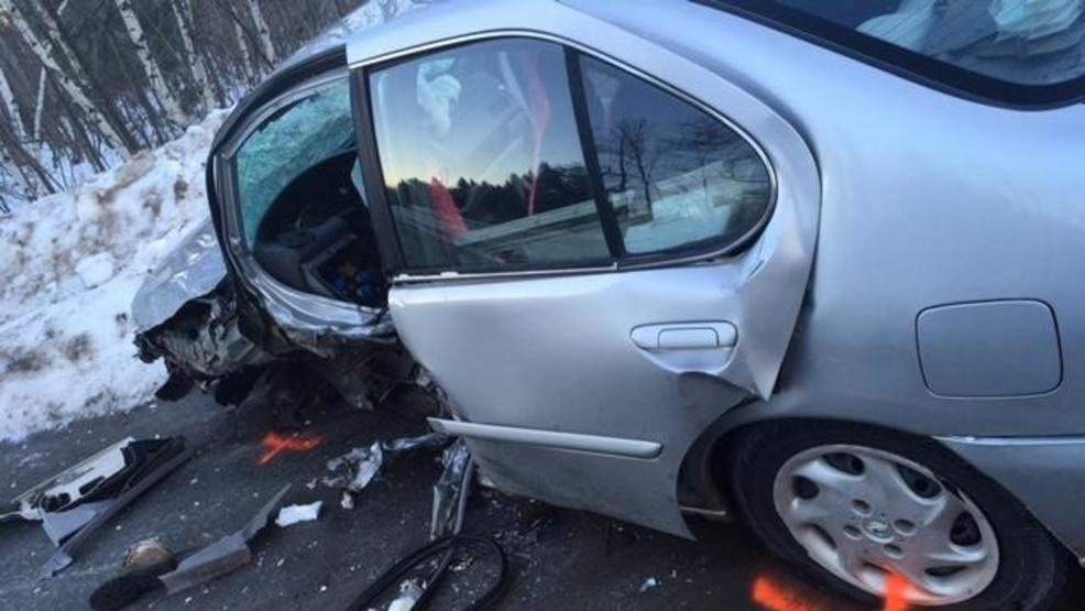 Two injured, including 1 severely, in head-on crash in